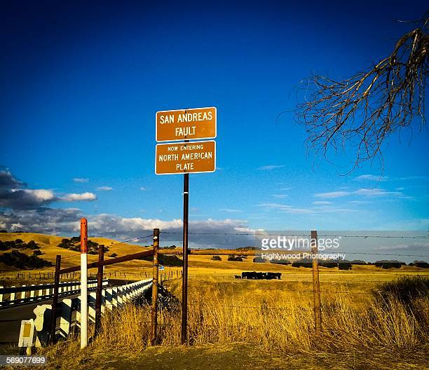 summer on the road - san andreas fault stock pictures, royalty-free photos & images