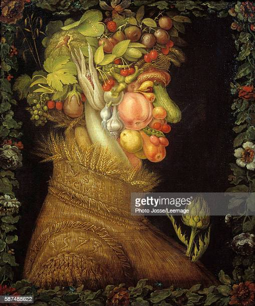 Summer Painting by Giuseppe Arcimboldo oil on canvas 1573 Musee du Louvre Paris France