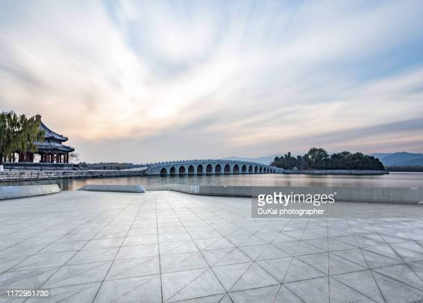 summer palace beijing - palace stock pictures, royalty-free photos & images