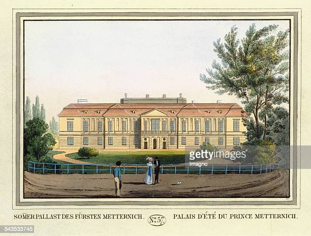 Summer Palace of Prince Metternich [Palais Metternich] 1825 Coloured etching Journal No 57 from >Wiens vorzüglichste Gebäude und Monumente Les...