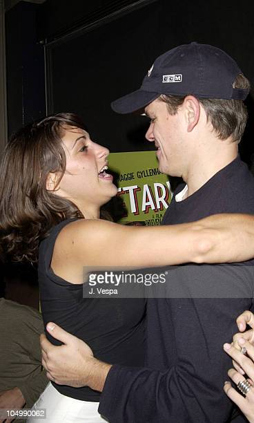 Summer Phoenix and Matt Damon during 'Secretary' Premiere AfterParty New York at Lot 61 in New York City New York United States