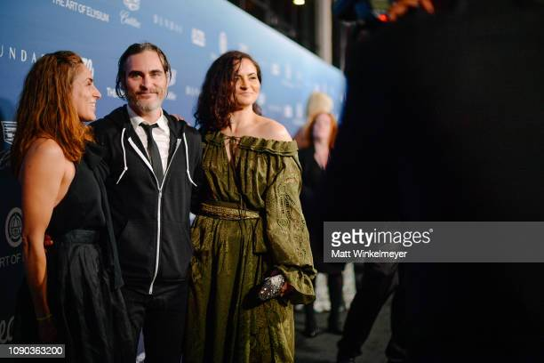 Summer Phoenix Joaquin Phoenix and Rain Phoenix attend Michael Muller's HEAVEN presented by The Art of Elysium on January 05 2019 in Los Angeles...