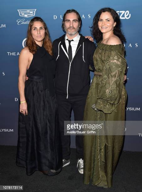 Summer Phoenix Joaquin Phoenix and Rain Phoenix attend The Art of Elysium's 12th Annual Celebration Heaven on January 5 2019 in Los Angeles California
