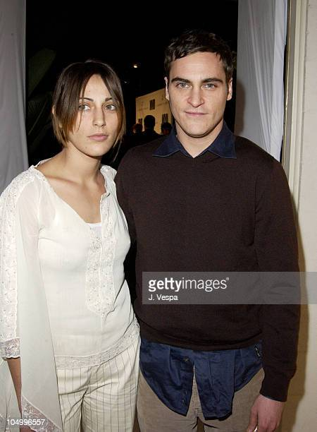 Summer Phoenix Joaquin Phoenix during Women's Wear Daily The Ultimate Fashion Authority Hosted 'White Hot Diamonds' The Exclusive PreOscar Fashion...