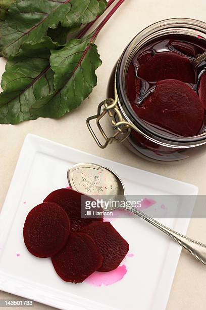 summer pickled beetroot - jill harrison stock pictures, royalty-free photos & images