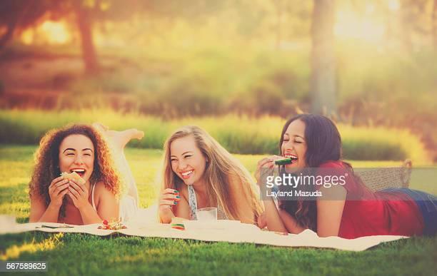 Summer picnic - young women