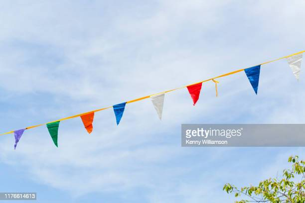 summer - bunting stock pictures, royalty-free photos & images