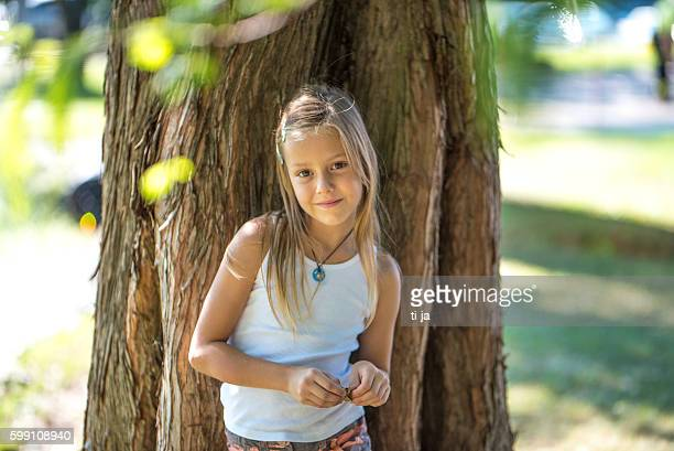 Summer portrait of a girl