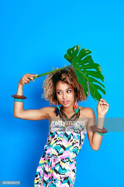 Summer portrait of freshness afro american young woman