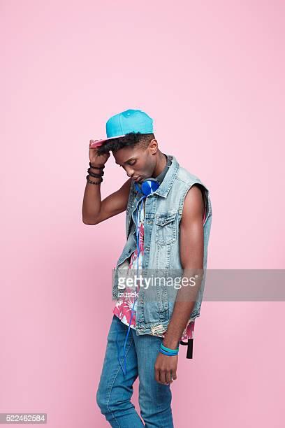 Été Portrait de jeunes afro-américaine homme