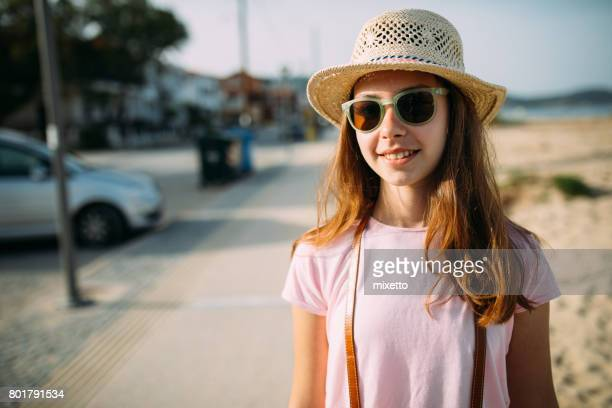 summer portrait - one teenage girl only stock pictures, royalty-free photos & images