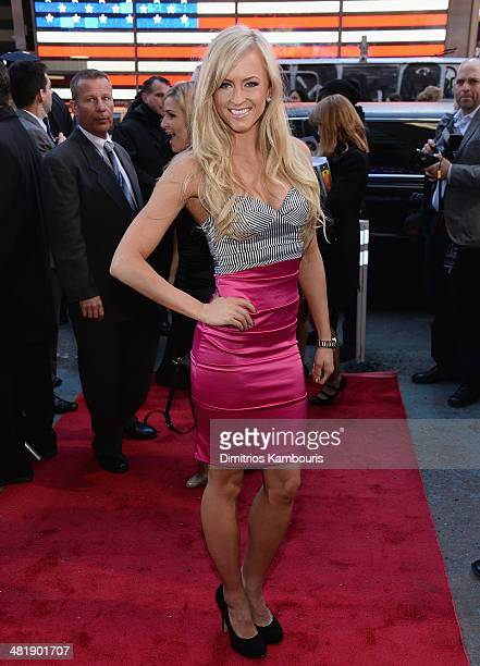 Summer Rae attends the WrestleMania 30 press conference at the Hard Rock Cafe New York on April 1 2014 in New York City
