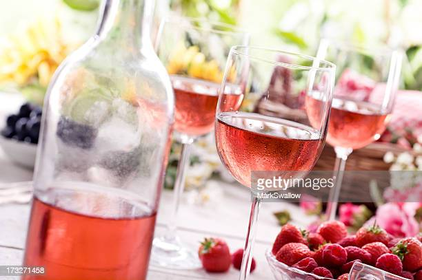 summer rose wine - rose stock pictures, royalty-free photos & images