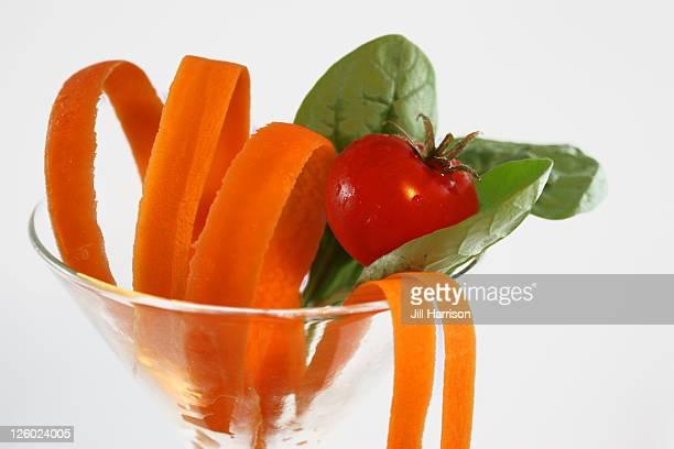 Summer salad vegetables