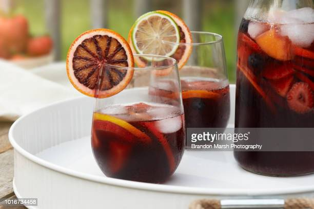 summer sangria part 2 - sangria stock pictures, royalty-free photos & images