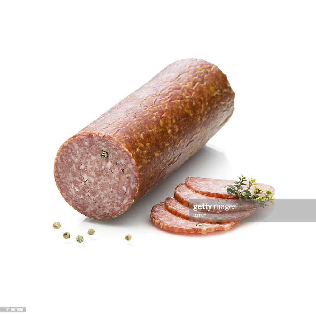 Summer sausage : Stock Photo