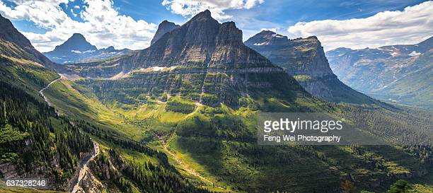 Summer Scenery Near Logan Pass, Glacier National Park, Montana, USA