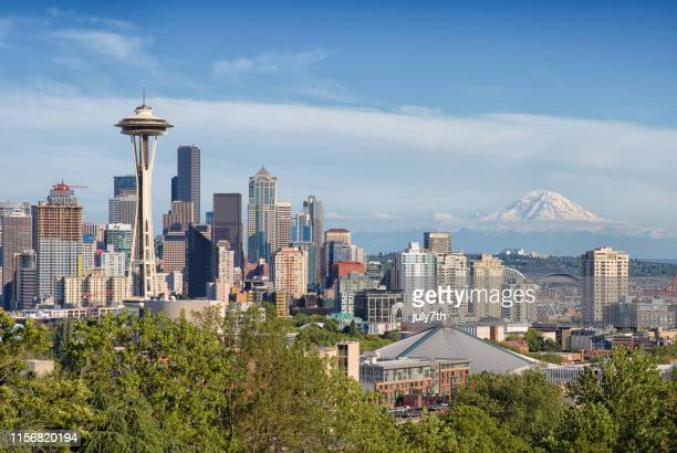 summer seattle - seattle stock pictures, royalty-free photos & images