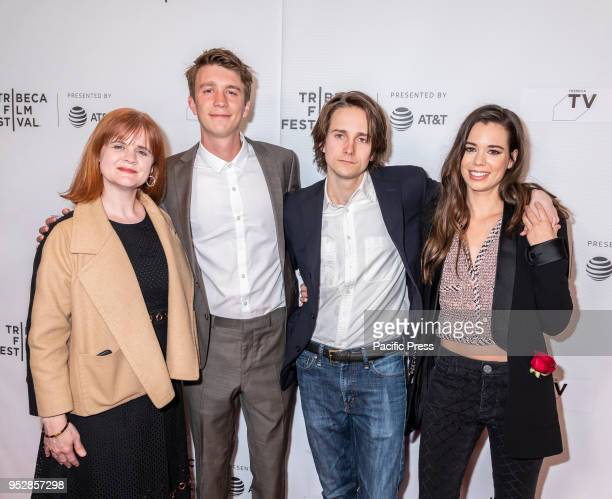 Summer Shelton Thomas Mann Matthew Brown and Laia Costa attend the screening of 'Maine' during the 2018 Tribeca Film Festival at Cinepolis Chelsea...