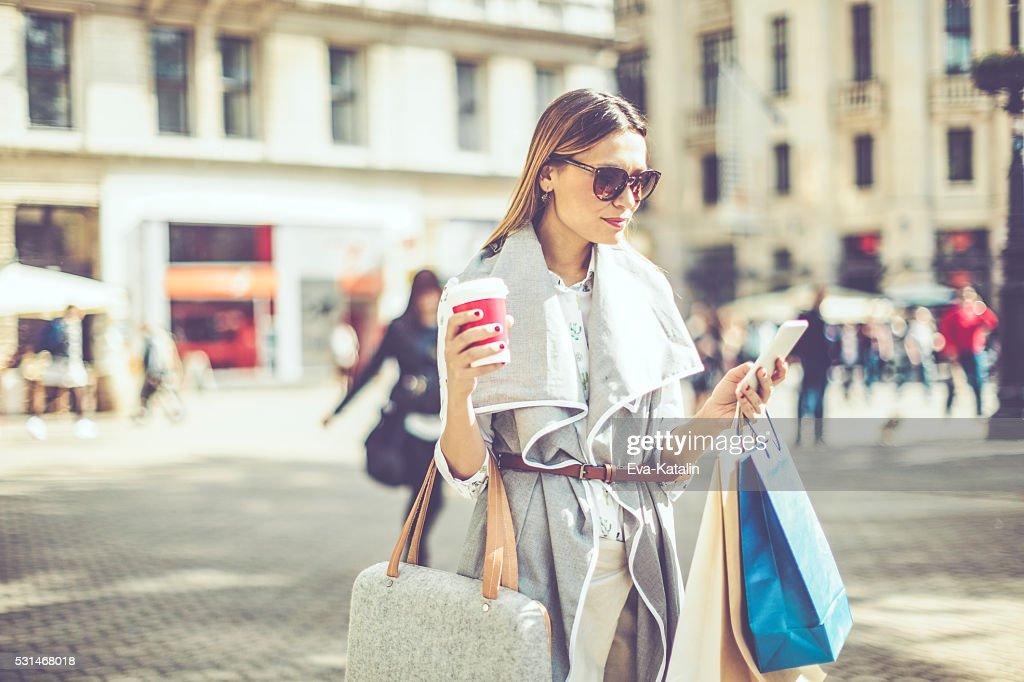 Sommer-shopping : Stock-Foto