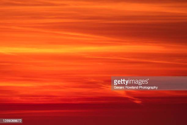 summer skies, uk - sunset stock pictures, royalty-free photos & images