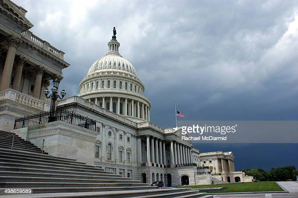 Summer storm approaches the Capitol Building in Washington DC