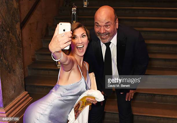 Summer Strallen and director Casey Nicholaw attend the press night after party for Disney's 'Aladdin' at The The National Gallery on June 15 2016 in...