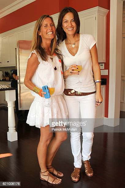 Summer Strauch and Paola Guerrero attend VICTORIA's SECRET Supermodel Obsessions Fall Preview Event at Home of Hanna Soukupova on August 16 2008 in...