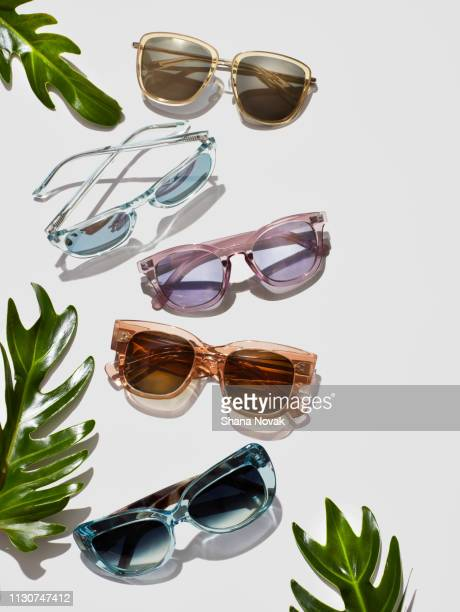 summer sunglass trends - sunglasses stock pictures, royalty-free photos & images