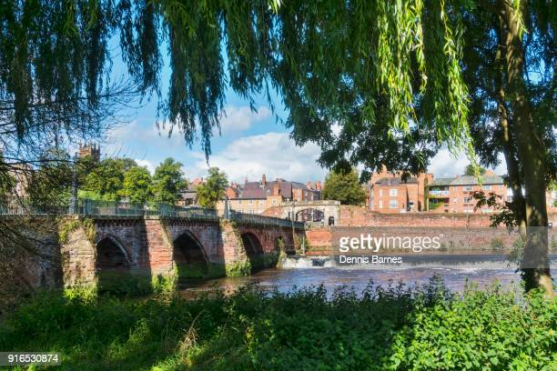 summer sunny view of river Dee in Chester, Cheshire, England