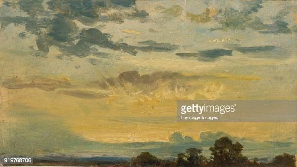 Summer Sunset, early 19th century. Artist John Constable.