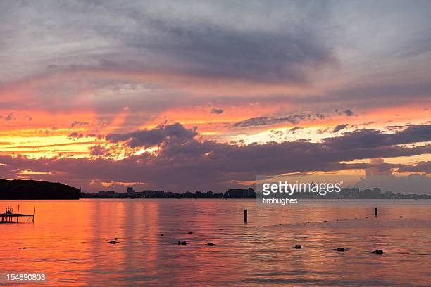 Summer sunset in Madison, Wisconsin