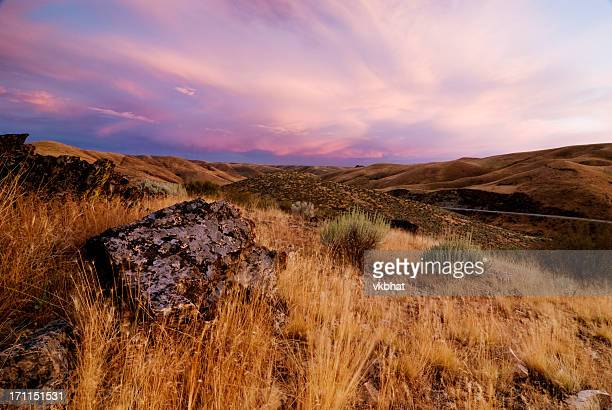 summer sunset - idaho stock pictures, royalty-free photos & images