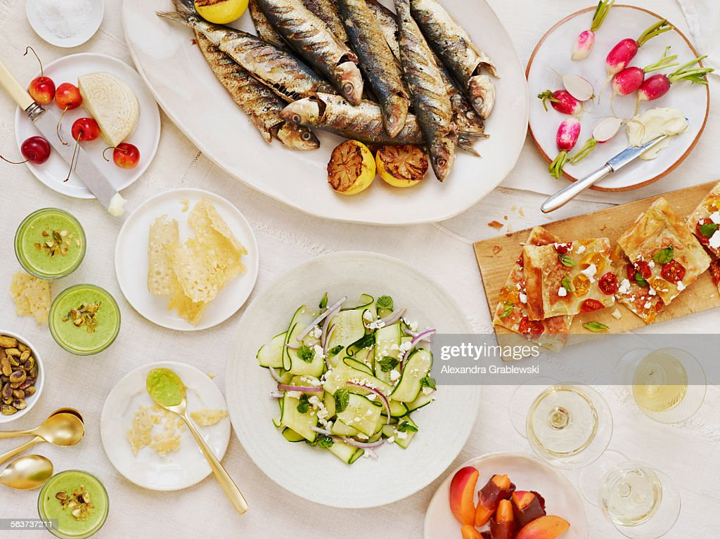 Summer Table Scape Horizontal : Stock Photo
