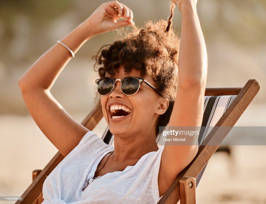 Verão, a temporada oficial feliz : Foto de stock