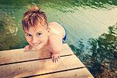 cute boy river