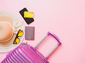 summer travel concept from credit card