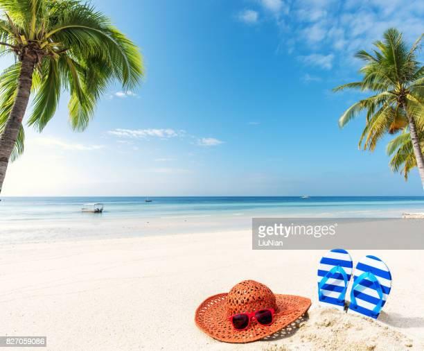 Relax de playa tropical de verano