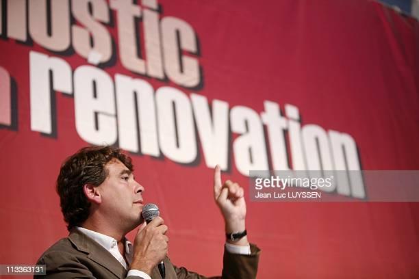 Summer Universities Of The Socialist Party In La Rochelle France On September 01 2007 Arnaud Montebourg