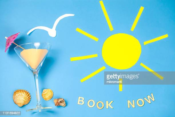 summer vacation, conceptual still life. - inexpensive stock photos and pictures