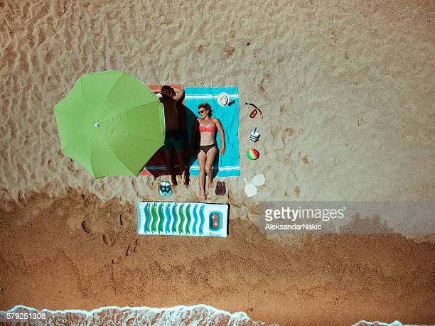 summer vacation essentials - parasol stock pictures, royalty-free photos & images