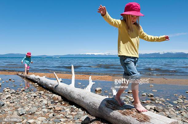 summer vacation fun - lake tahoe stock photos and pictures