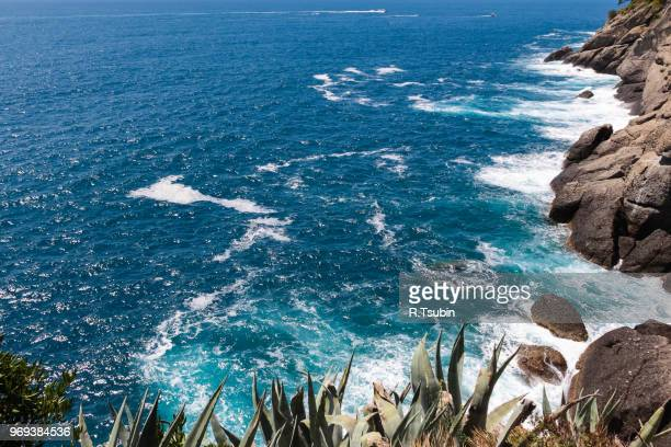 summer vacation on ligurian coast, italy - portofino stock pictures, royalty-free photos & images