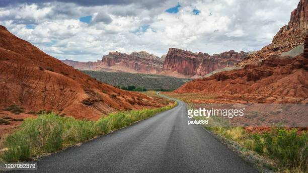 summer vacations in usa outdoors: driving the highways of great south west - great basin stock pictures, royalty-free photos & images