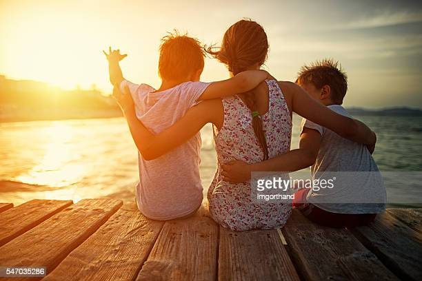 summer vacations - pier stock pictures, royalty-free photos & images