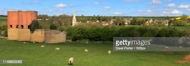 summer view, brick kilns above wakerley village, northamptonshir - northamptonshire stock pictures, royalty-free photos & images