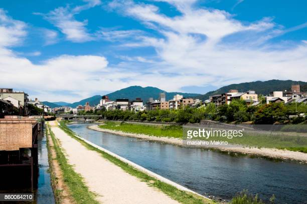 Summer View of Kamo River, Kyoto City
