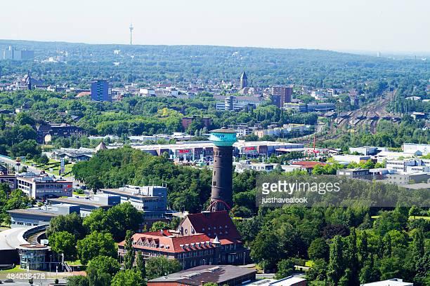 sommer blick über oberhausen - oberhausen stock-fotos und bilder