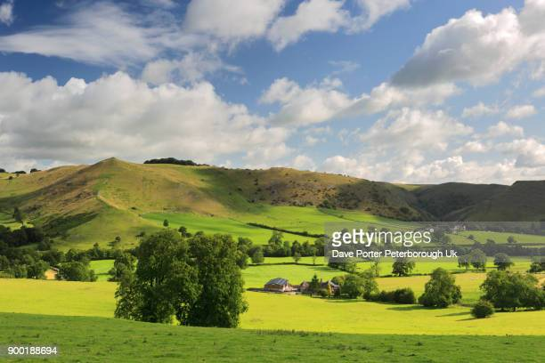 Summer view through the Ilam pastures onto Dovedale