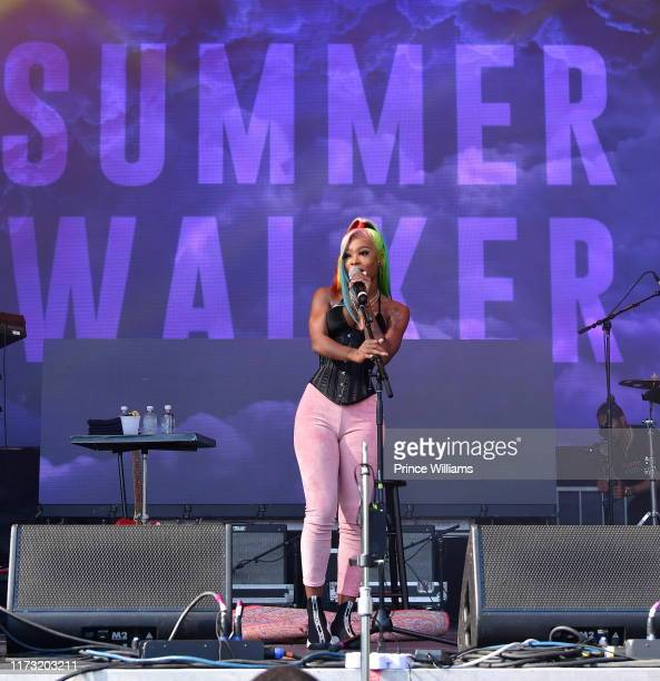 Summer Walker performs at the 10th annual ONE Musicfest at Centennial Olympic Park on September 7 2019 in Atlanta Georgia